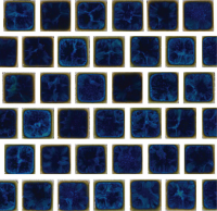 Pool Tile - Trim,Accents&Mosaic Patterns - National Pool Tile - Mini Koyn Ocean Blue 1x1