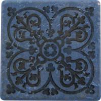 National Pool Tile - Catania Blue Deco