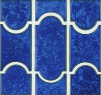 Pool Tile - Trim,Accents&Mosaic Patterns - National Pool Tile - Botanical Lake Blue