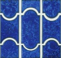 National Pool Tile - Botanical Lake Blue