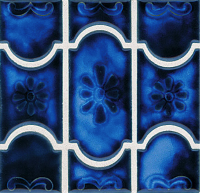 Pool Tile - Trim,Accents&Mosaic Patterns - National Pool Tile - Botanical Sky Blue
