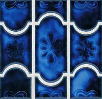 National Pool Tile - Botanical Sky Blue