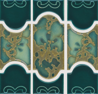 National Pool Tile - Botanical Teal