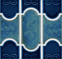 National Pool Tile - Botanical Navy Blue