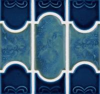 National Pool Tile - Botanical Navy Blue