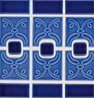 Pool Tile - Trim,Accents&Mosaic Patterns - National Pool Tile - Luciana Electric Blue
