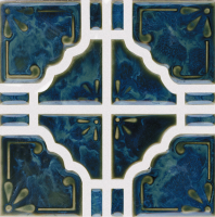 Pool Tile - Trim,Accents&Mosaic Patterns - National Pool Tile - Moonbeam Ocean Green
