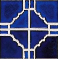 Pool Tile - Trim,Accents&Mosaic Patterns - National Pool Tile - Moonbeam Cobalt Blue